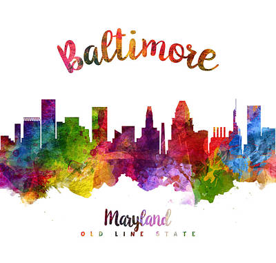 Baltimore Painting - Baltimore Maryland 23 by Aged Pixel