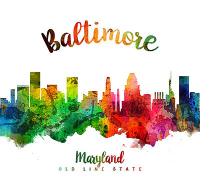 Baltimore Painting - Baltimore Maryland 24 by Aged Pixel