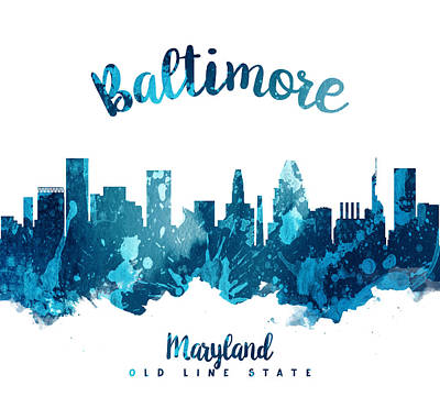 Baltimore Painting - Baltimore Maryland 27 by Aged Pixel