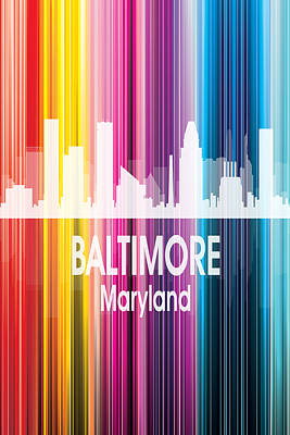 Digital Art - Baltimore Md 2 Vertical by Angelina Vick