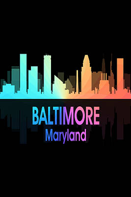Digital Art - Baltimore Md 5 Vertical by Angelina Vick