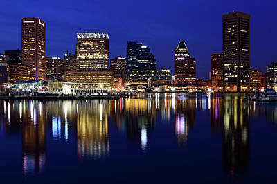 Photograph - Baltimore Nights by James Kirkikis