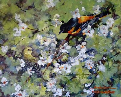 Painting - Baltimore Oriole by Sandra Strohschein