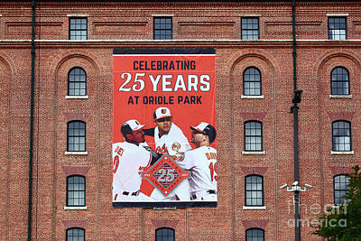 Photograph - Baltimore Orioles Celebrate 25 Years At Oriole Park by James Brunker