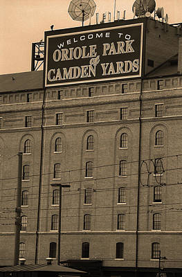 Photograph - Baltimore Orioles Park At Camden Yards Sepia #2 by Frank Romeo