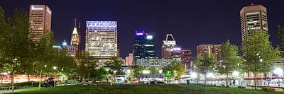 Photograph - Baltimore Panorama In The Park by Frozen in Time Fine Art Photography