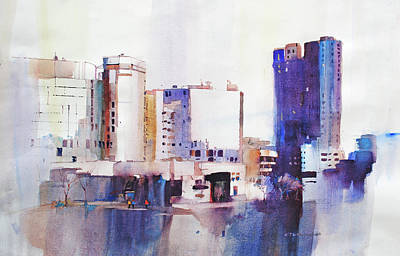 Painting - Baltimore Plaza by P Anthony Visco