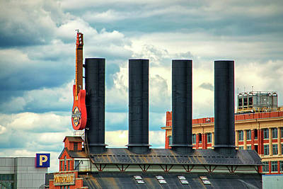 Photograph - Baltimore Power Plant Guitar Stacks by Bill Swartwout Fine Art Photography