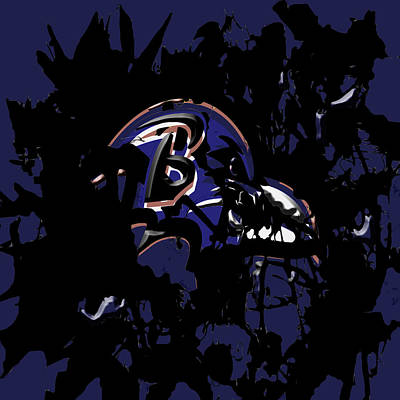 Redskins Mixed Media - Baltimore Ravens 1e by Brian Reaves