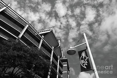 Baltimore Ravens Nfl Stadium Black And White Art Print