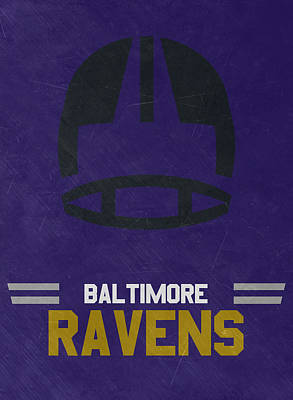 Mixed Media - Baltimore Ravens Vintage Art by Joe Hamilton
