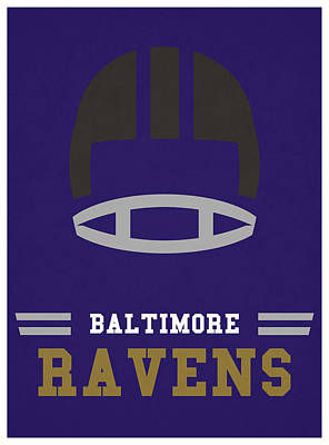 Baltimore Ravens Wall Art - Mixed Media - Baltimore Ravens Vintage Nfl Art by Joe Hamilton