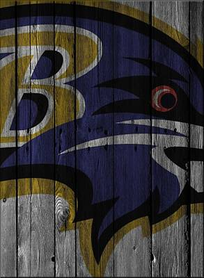 Baltimore Ravens Wall Art - Photograph - Baltimore Ravens Wood Fence by Joe Hamilton
