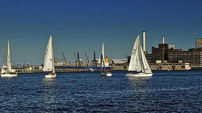 Waterview Photograph - Baltimore Sailing by Jim Archer