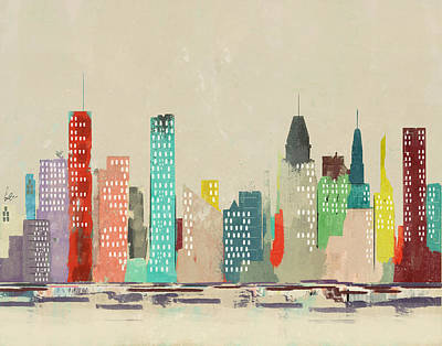 Painting - Baltimore Skyline by Bleu Bri