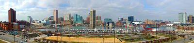 Photograph - Baltimore Skyline Inner Harbor Panorama by Jon Holiday