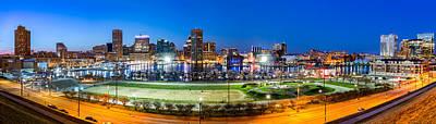 Photograph - Baltimore Skyline Panorama At Dusk by Mihai Andritoiu