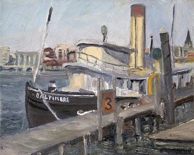 Wall Art - Painting - Baltimore Tugboat by Katherine Farrell
