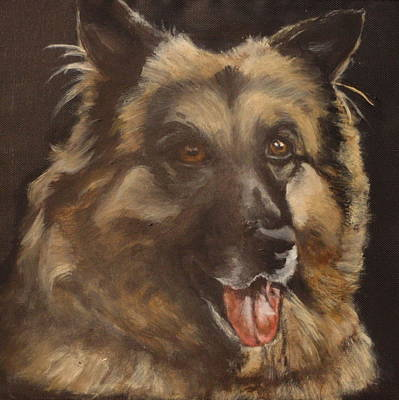 Dog Close-up Painting - Balto by Carol Russell