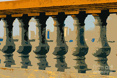 Balustrade Art Print by David Lee Thompson