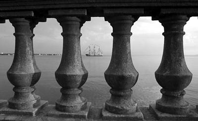 Photograph - Balustrades And Pirate Ship by David Lee Thompson