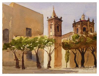 Painting - Balzan Main Square Malta by Godwin Cassar