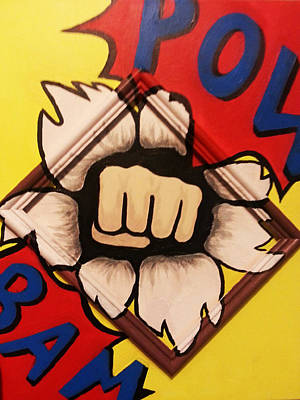 Punching Painting - Bam Pow by Emily Ridgaway