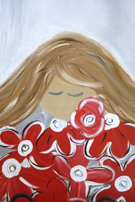 Bama Girl With Flowers Original by Tracy Leventry