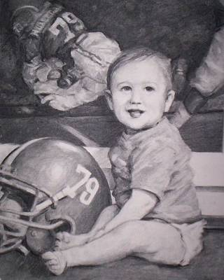 Bama Player's Son Art Print by Dennis Earley