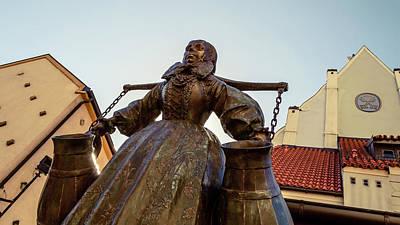 Photograph - Bamberka Statue On Old Market Square Poznan Poland by Jacek Wojnarowski