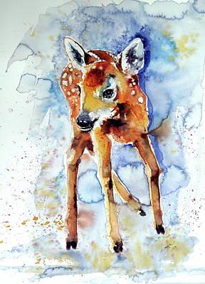 Painting - Bambi Roe by Kovacs Anna Brigitta