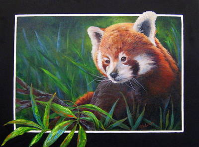 Painting - Bamboo Basking--red Panda by Mary McCullah