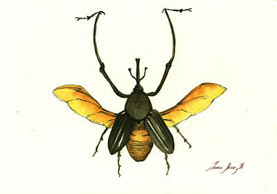 Beetle Painting - Bamboo Beetle by Juan Bosco