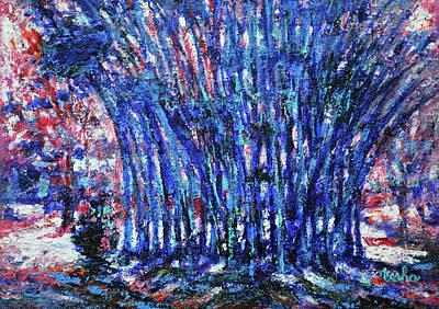 Painting - Bamboo Blues by Usha Shantharam