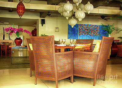 Photograph - Bamboo Chairs by Charuhas Images
