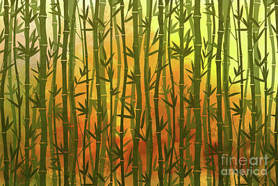 Digital Art - Bamboo Forest by Bedros Awak