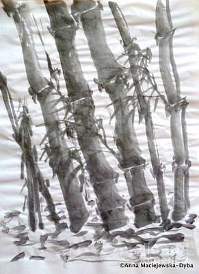 Bamboo Grove 3 Art Print by Anna Folkartanna Maciejewska-Dyba