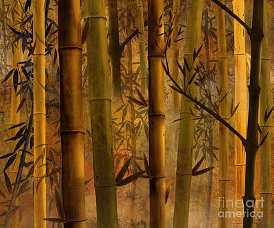 Snake Digital Art - Bamboo Heaven by Peter Awax