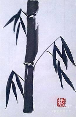 Bamboo In Black And White Art Print