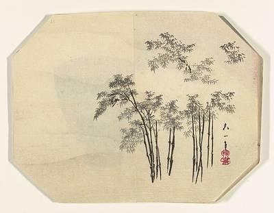 Starlings Painting - Bamboo In Fog, Unknown, 1880 - 1890 by Adam asar