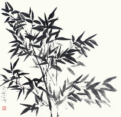 Painting - Bamboo In Its Full Grace by Nadja Van Ghelue