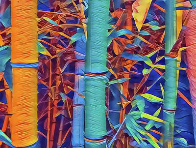 Mixed Media - Bamboo by Jonathan Nguyen