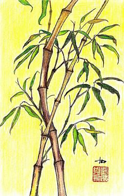 Bamboo Drawing - Bamboo Joy by Irina Davis