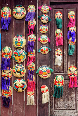 Photograph - Bamboo Masks by Fabrizio Troiani