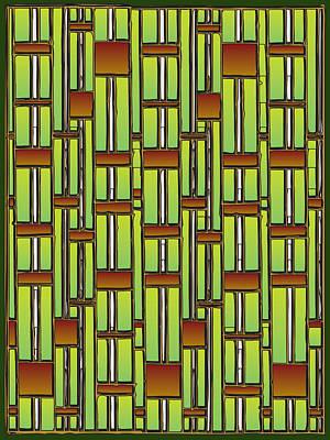 Office Plants Drawing - Bamboo Overdose  by Marta Podkul