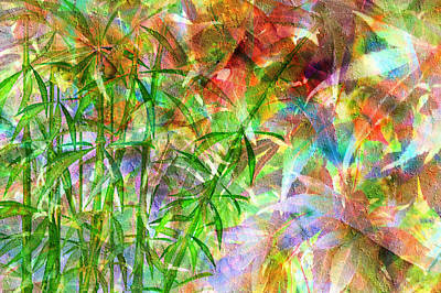 Digital Art - Bamboo Paradise by Kiki Art