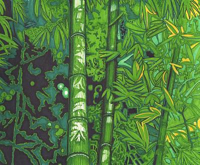 Bamboo Art Print by Will Stevenson