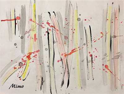 Painting - Bamboo2 by Mimo Krouzian