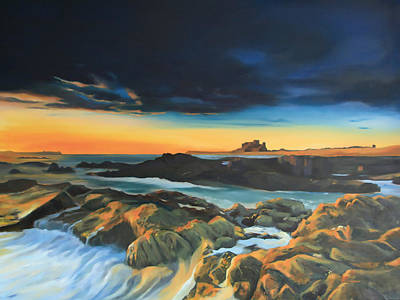 Wall Art - Painting - Bamburgh Castle by Alison Stafford