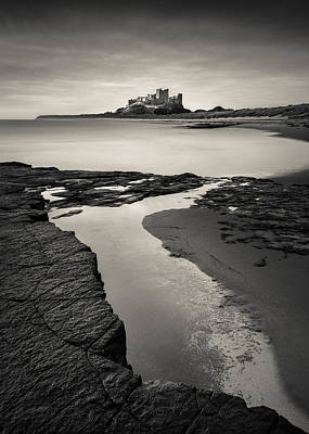 Battlements Photograph - Bamburgh Castle by Dave Bowman